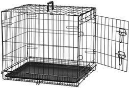 AmazonBasics Single-Door Folding Metal Dog Crate - Small
