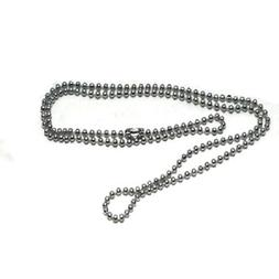 Stainless Steel 24 Inch 2mm Ball Link Neck Chain Necklace