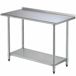"24""x48"" Stainless Steel Work table with Backsplash Kitchen R"