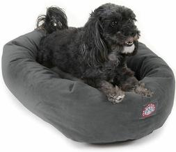 """Suede Dog Bed By Majestic Pet Products 24"""" Gray Velvet for S"""