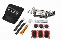 V-Share Multi Function Bike Tool with Patch Kit & Tire Lever