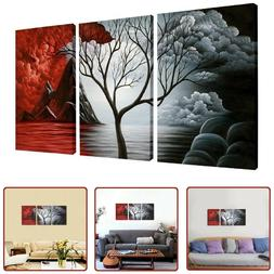 WALL CANVAS PRINT 3 Panels Home Decor Abstract Landscape Tre