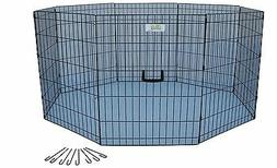 Go Pet Club 24-Inch High Wire Play Pen 8-Panels