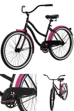 women 24 inch cruiser bike pink