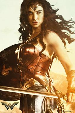 Wonder Woman Sword & Shield Poster 24 inch x 36 inch DC Movi