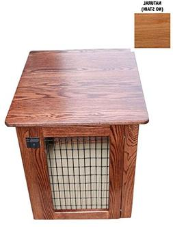 Wood Dog Crate – Heavy Duty Chew-Resistant Wooden Kennel E