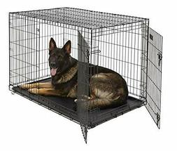 XL Dog Crate MidWest ICrate Double Door Folding Metal Dog Cr